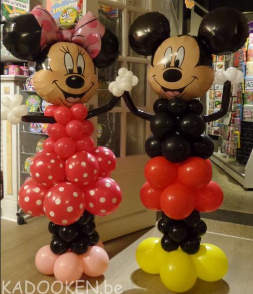 Uitgelezene Ballonpilaar Mickey en Minnie mouse - EQ-59